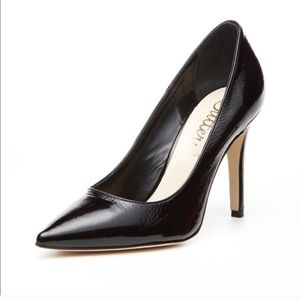 """Butter shoes patent leather black 3"""" heels"""